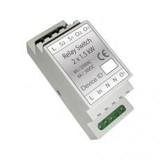 Haseman DR2-1 - Z-Wave DIN Rail 2x1.5kW Switch module (Insert Fibaro FGS-222)